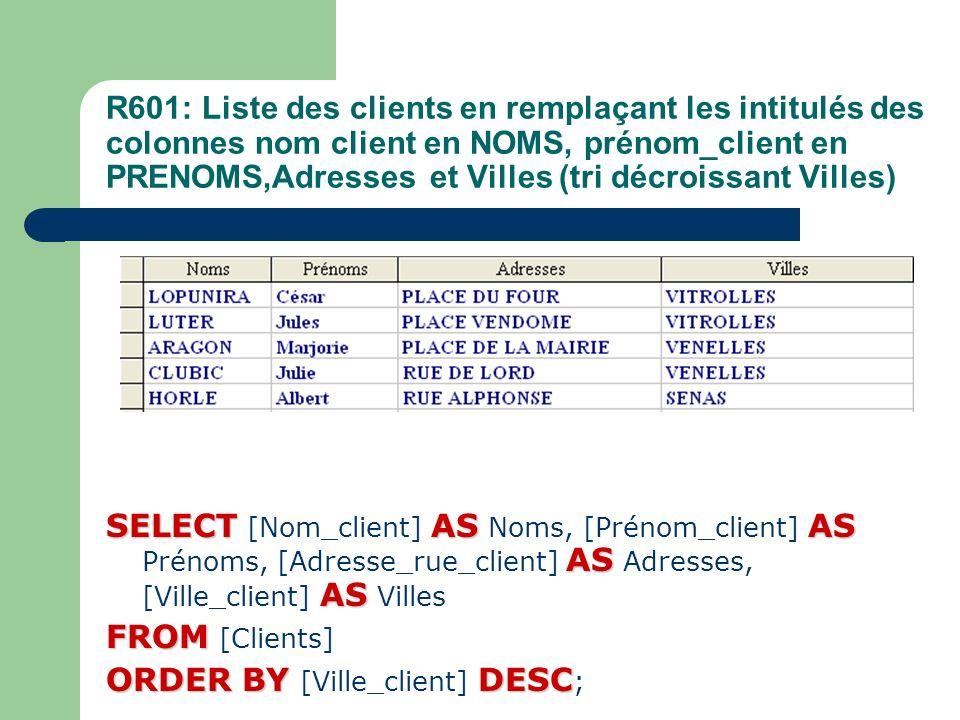 ORDER BY [Ville_client] DESC;